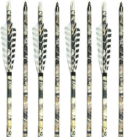 """US 6Pcs 30/"""" Carbon Arrows Spine 500 Screw Tips Archery Recurve Compound Bow"""