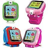 zmayastar ウォッチ型のおもちゃ スマートウォッチ キッズ用 写真 動画 カメラ ビデオ ゲーム タッチスクリーン 時計 ボイスレコーダー プレゼント クリスマス 景品 子供 SH-ETSB-01 (ピンク)