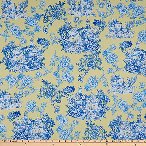 Kanvas Maison des Fleurs Toile Garden Yellow Fabric by The Yard