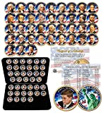 39 COIN Complete Set PRESIDENTIAL $1 US DOLLAR FULLY COLORIZED 2-SIDED with BOX