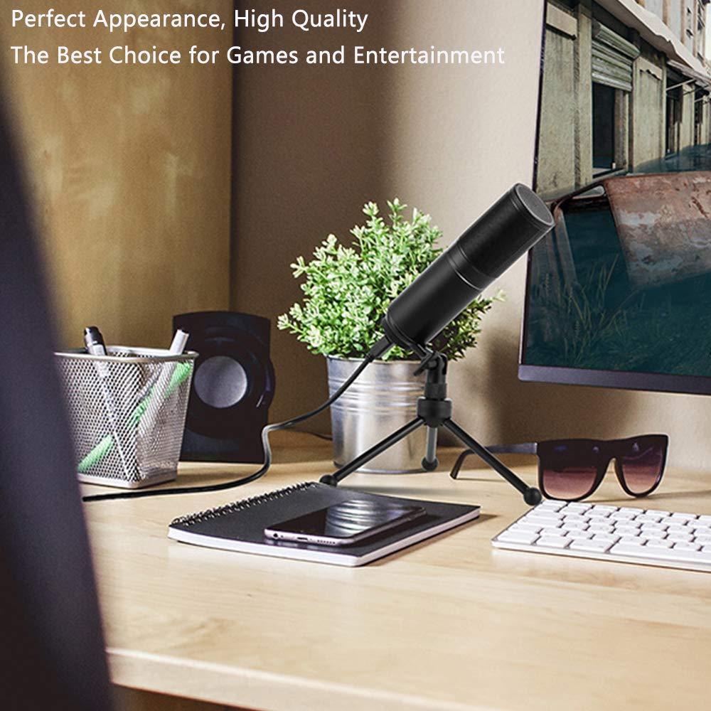 Skype Plug /& Play con micr/ófono de Condensador USB para Ordenador mensajer/ía instant/ánea podcasts XIAOKOA Micr/ófono USB para PC port/átil grabaciones Apto para presentaciones Juego.