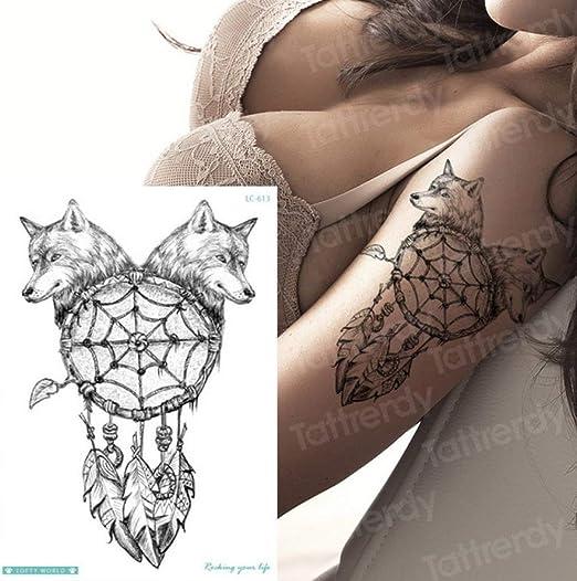 5Pcs-Tattoo Sticker Hombre Animal Transferencia de Agua Tatuaje ...