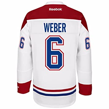 5adf57804 Amazon.com   Reebok Shea Weber Montreal Canadiens NHL Men s White ...