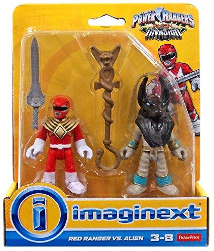 Imaginext Saban Power Rangers Alien Invasion Red Ranger vs Alien