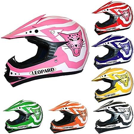 Leopard LEO-X17 Kids Children CUB Motocross Motorbike Motorcycle Helmet - Black L (53-54cm) Touch Global Ltd