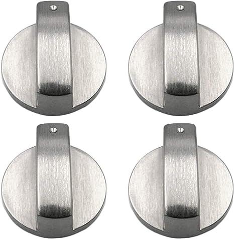 Metal 6mm Universal Silver Gas Adaptadores de Perillas de Control de la Estufa Interruptor de Horno, Cocina, Cerraduras de Control de Superficie (6MM): Amazon.es: Grandes electrodomésticos
