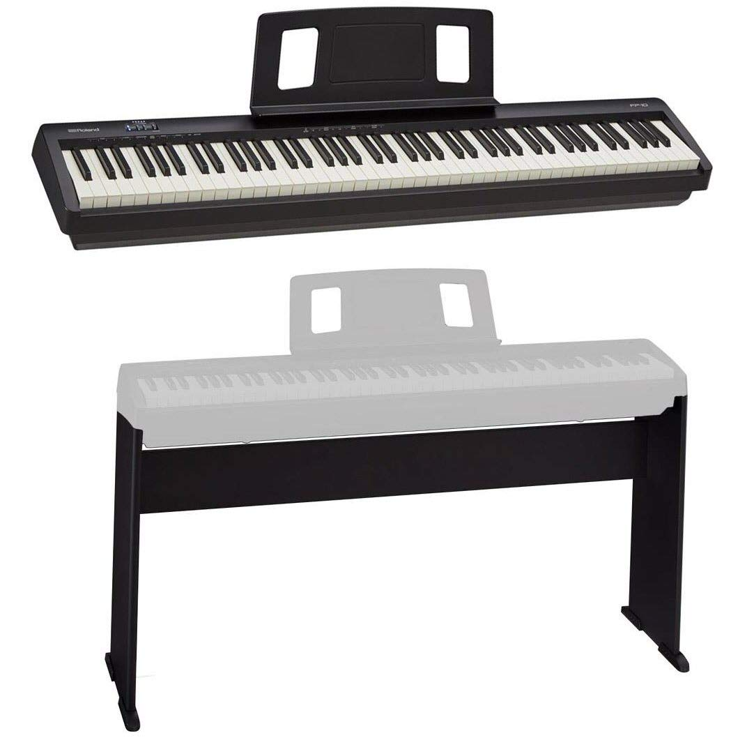 Roland Digital Piano FP-10-BK - With Roland Stand for FP-10 Digital Piano by Roland
