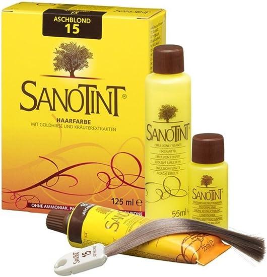SANOTINT® Tinte de pelo nº 15, rubio ceniza (125 ml)