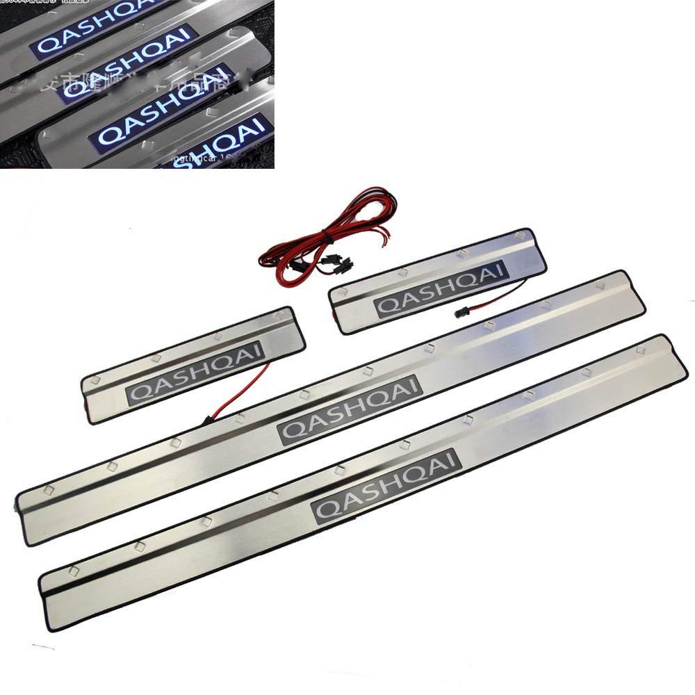 Auto Door Sill LED Porta in acciaio inox Soglia per Qashqai Soglia 2010 –  2014 Year tbparts