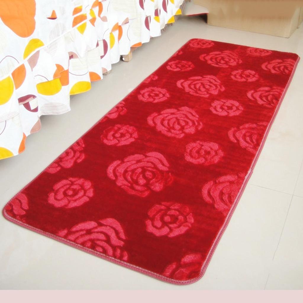 X&Y Cloud mink velvet carpet The door living room bedroom Bedside Foot pad kitchen bathroom Mats , 140200cm , red