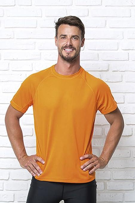 JHK Deportes T Camisa Hi Vis Amarillo o Naranja (S, M, L, XL y XXL) Correr Gimnasio Fitness