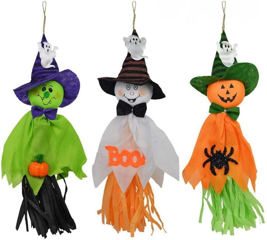 Tomasa Halloween figure accessoires décoratifs, fantôme saignant, multicolore, accessoires décoratifs maison hantée pour la fête d'Halloween se bloque sacs de fête