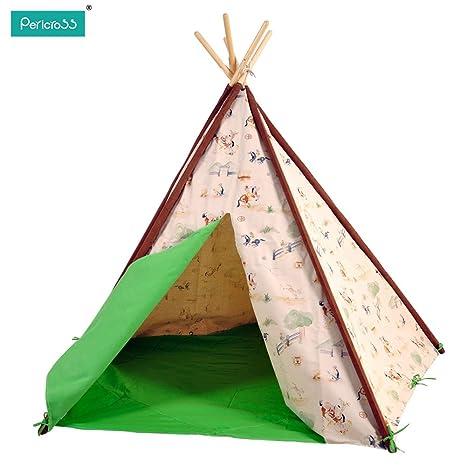 new product 0ca43 02017 Pericross® Kids Pentagon Teepee Tents Indian Tent for Children Indoor
