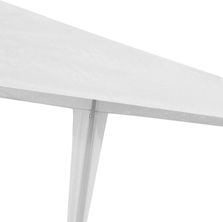 casa.pro /® Gazebo da Giardino 300 x 300 x 255 cm Tenda da Giardino Struttura in Acciaio Pieghevole Impermeabile Bianco