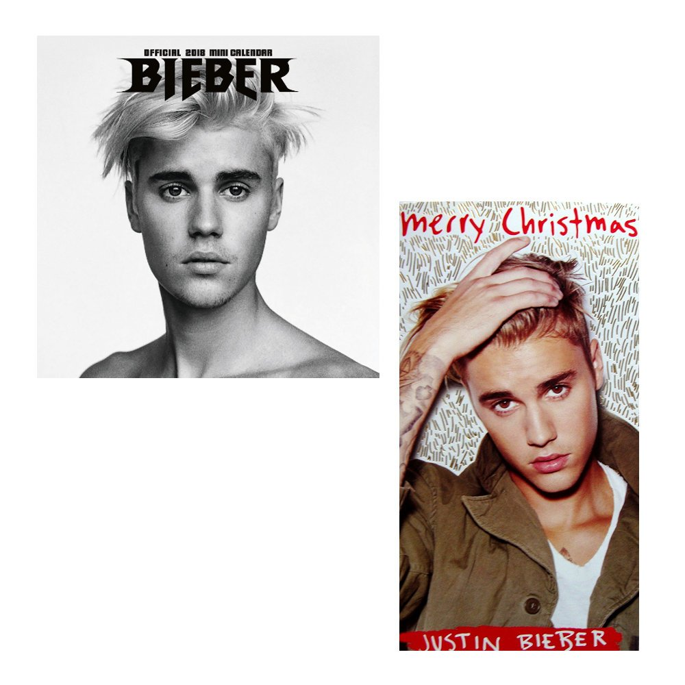 Justin Bieber 2018 Mini Calendar + Christmas Card Set: Amazon.co.uk ...