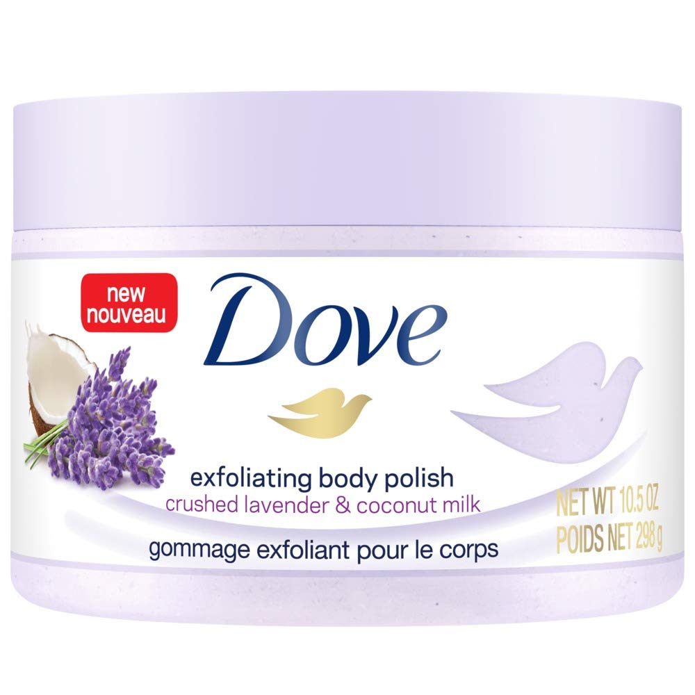 Dove Exfoliating Body Polish Crushed Lavender & Coconut Milk, 10.5 oz by Dove Exfoliating
