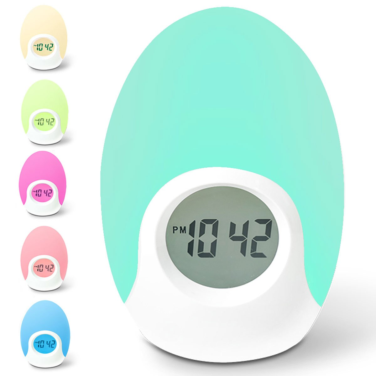 ICODE Sports Alarm Clock for Kids with Soft LED Color Changing Night Light,Nursery Clock, Toys for Kids, Birthday Gifts for Boys &Girls