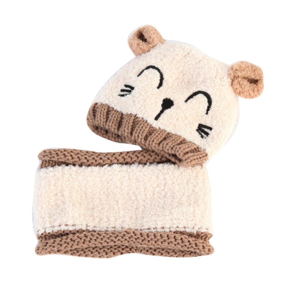 Odejoy ragazzo dei bambini del ha lavorato a maglia il cappello morbido del  cappello di spirito infantile invernale del bambino ha lavorato a maglia il  ... daea5ad3f8e9