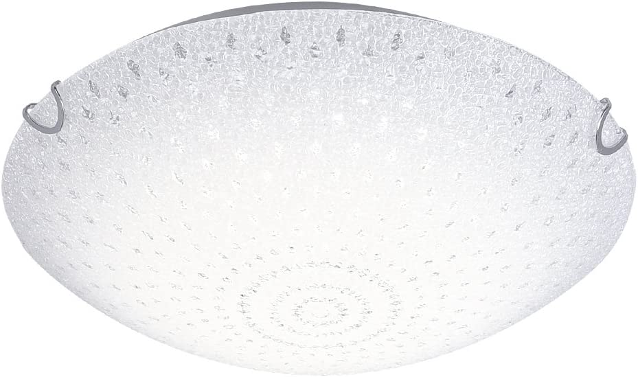 LED Ceiling Light Fixture Auffel Elegant Flush Mount 11-Inch Minimalist Indoor Home Chandelier 4000K Daylight White1320LM Glass Crystal Roundness Dimmable Lamp for Kitchen,Basement,Hallway,Aisle