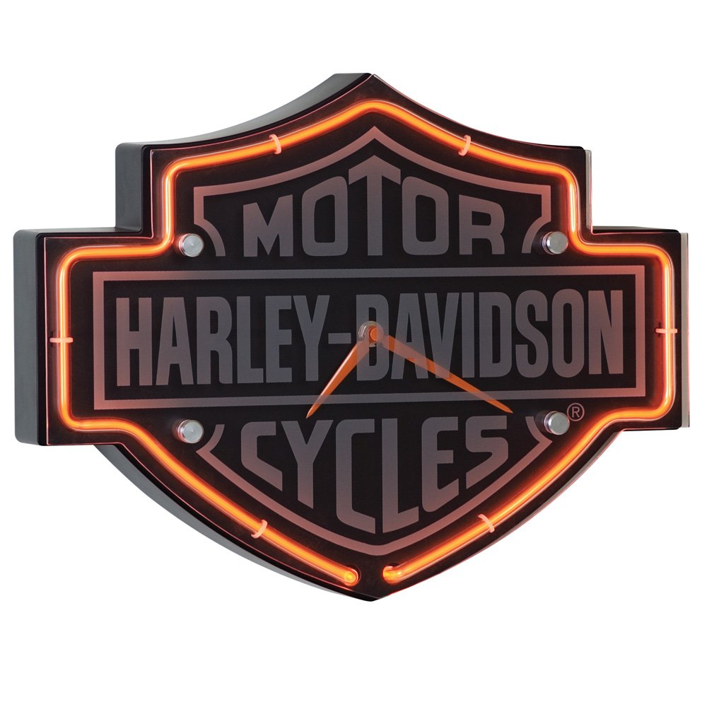 amazon com harley davidson etched bar shield shaped neon clock rh amazon com harley davidson bar and shield metal emblem harley davidson bar and shield tank emblem