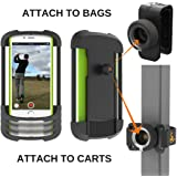 "Frogger Golf - Record Golf Swing Phone Latch-It - Universal Smart Phone Holder Attachment to Golf Bags and Golf Carts | Part of the 2017 PGA Merchandise Show ""Best New Product"" Latch-It Ecosystem"