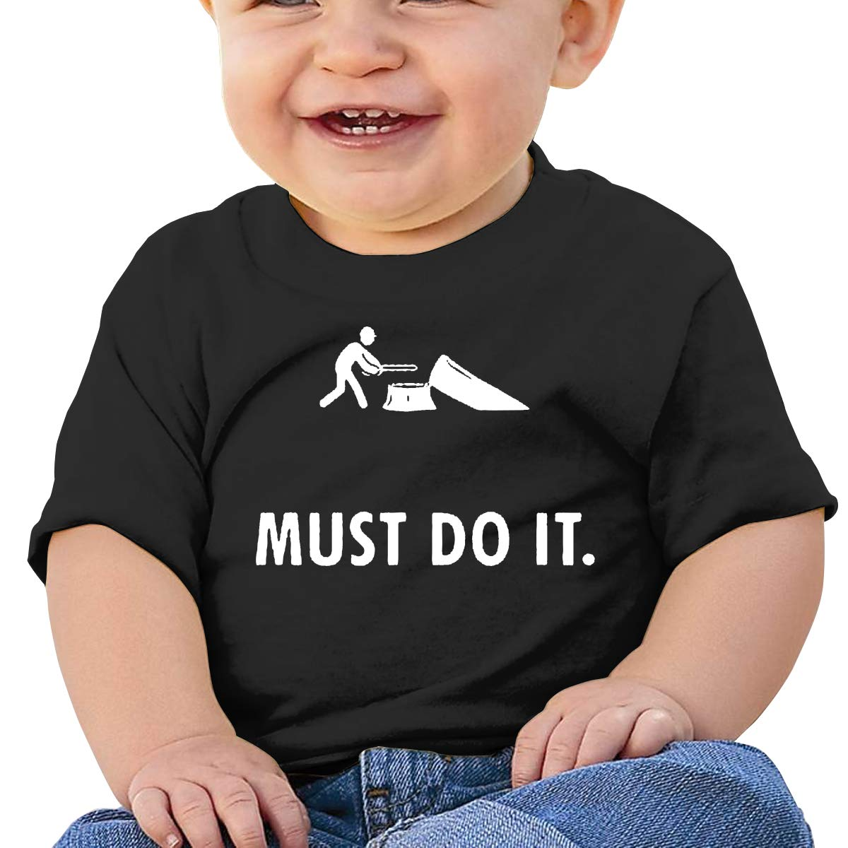 Must Do It Toddler Short-Sleeve Tee for Boy Girl Infant Kids T-Shirt On Newborn 6-18 Months