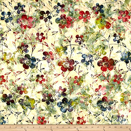 Textile Creations Indonesian Batik Dogwood Ivory Fabric by The ()