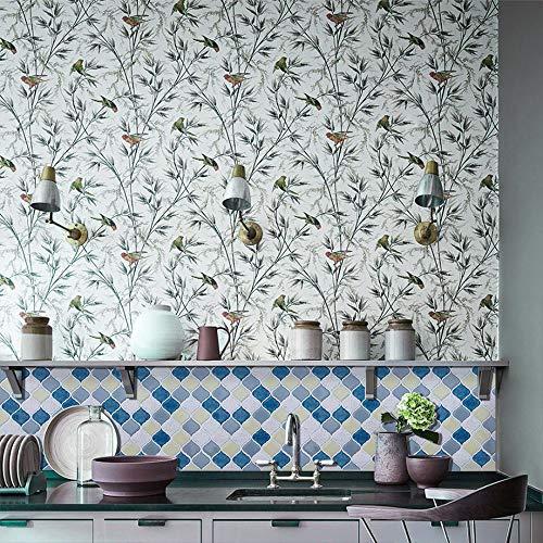 Peel and Stick Tile Backsplash for Kitchen Bathroom,Teal Arabesque Tile Backsplash,Mosaic Backsplash Sticker (8 Tiles) by HUE DECORATION (Image #2)