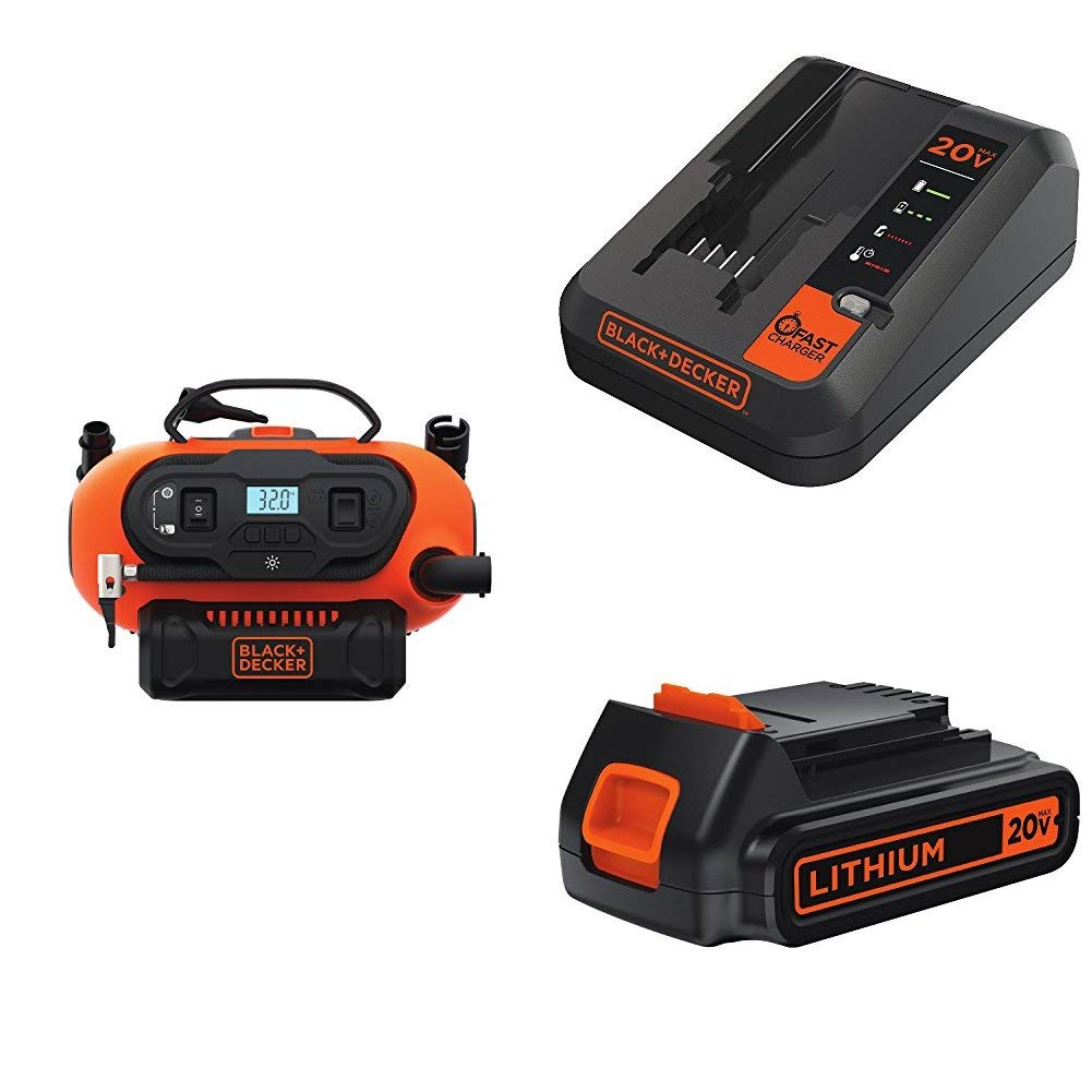 BLACK+DECKER BDINF20C 20V Lithium Cordless Multi-Purpose Inflator (Tool Only) Black & Decker