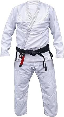 Your Jiu Jitsu Gear Brazilian Jiu Jitsu Premium 350/450 Uniform with Free Belt (A1lightweight, WhiteGiwithcontrast)