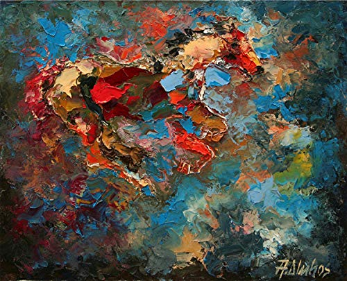 - Wild at Heart - LIMITED TIME OFFER Equine horse painting by internationally renown painter Andre Dluhos