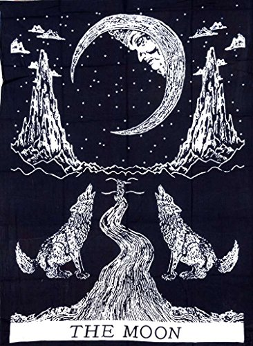 Bohemian Bedspread Tapestries Moon Black product image