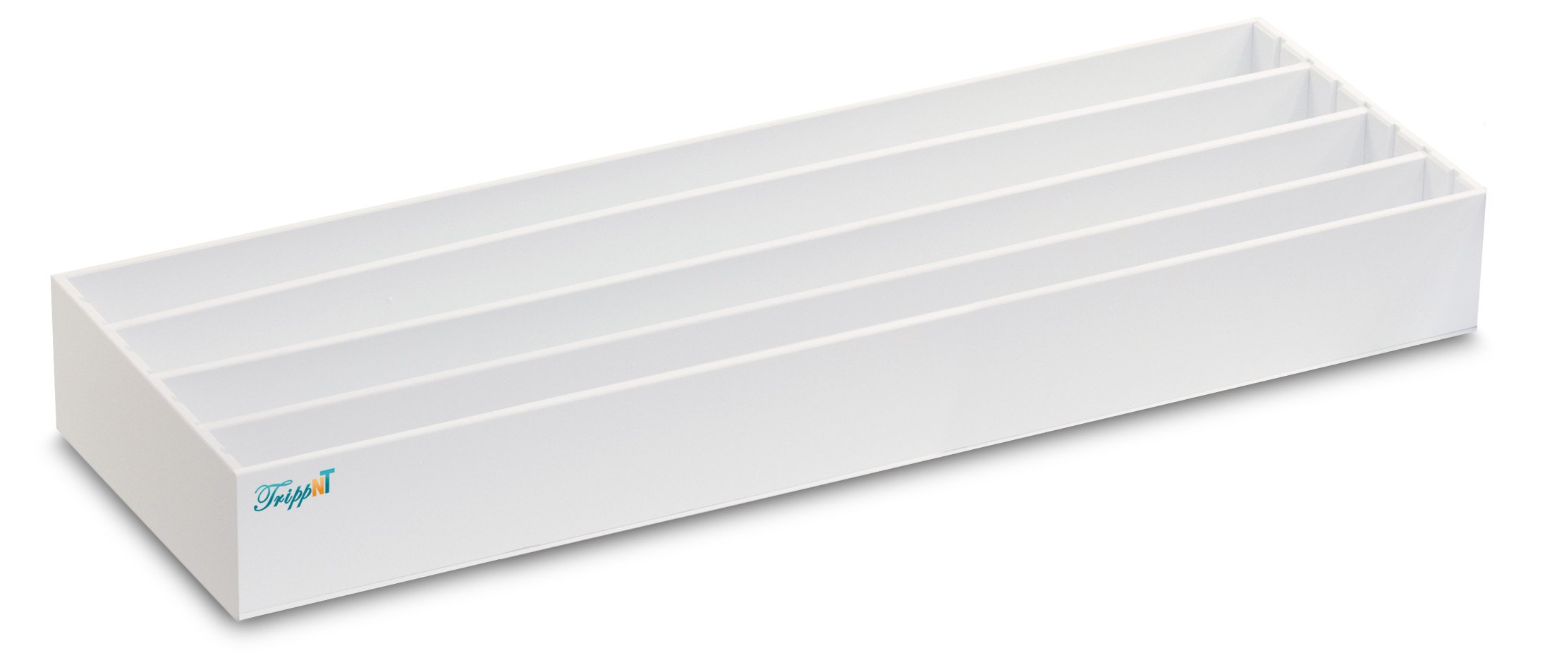 TrippNT 50492 Small Pipette Storage Box with Adjustable Compartments, 25'' Width x 3'' Height x 8'' Depth