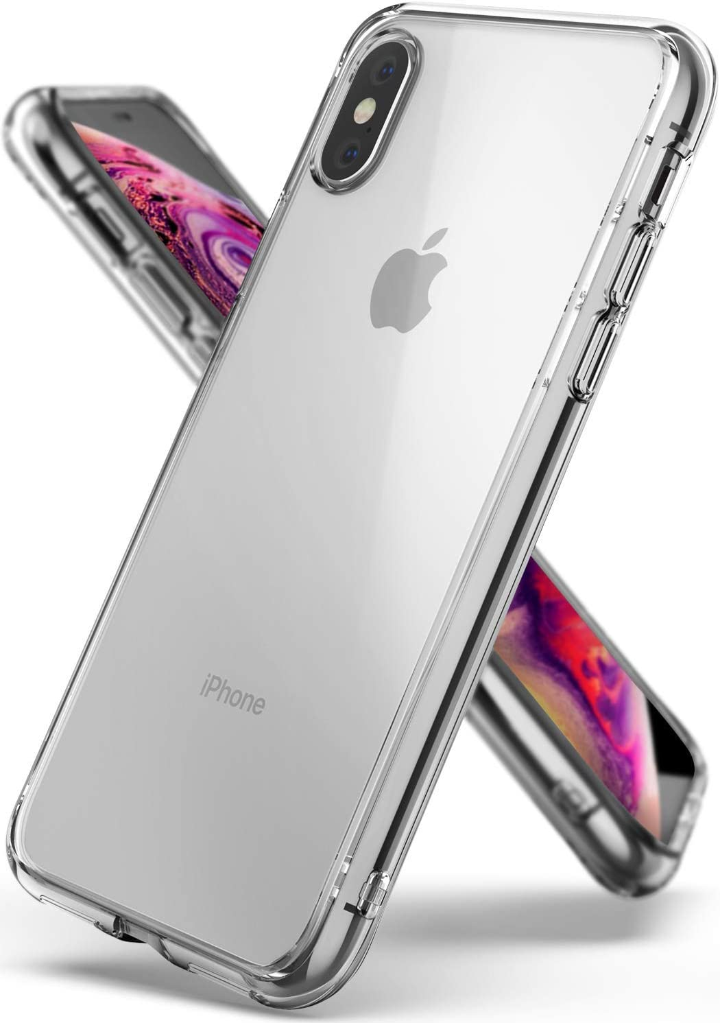Ringke Fusion Compatible with iPhone Xs Case, Compatible with iPhone X Case, Transparent Scratch Protection Cover - Clear