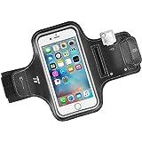 "TaoTronics Sportarmband Handyhülle Wasserfestem Bildschirmschutz, Reflektorstreifen, Schlüsselhalter, Kartenhalter, Kompatibel mit iPhone 8/7/6S, Galaxy S7, iPhone SE, 5/5C/5S usw. 4.7""-5.1"""