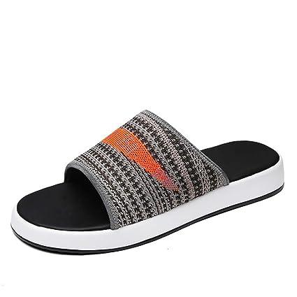Wangcui Zapatillas De Verano Hombre Deportes Al Aire Libre Informal Ligero Zapatos De Playa Negro (