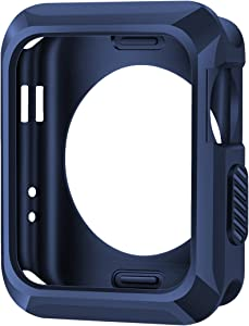 iiteeology Replacement for Apple Watch Case 42mm, Universal TPU Protective Case for Apple iWatch Series 3 Series 2 Series 1 - Midnight Blue