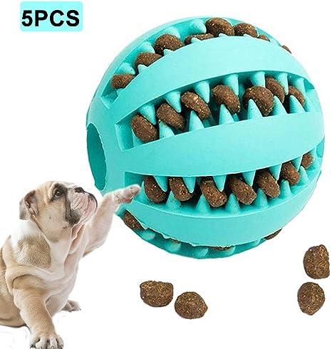 Pelota Ordertown para perros y mascotas, 5 piezas de goma suave ...