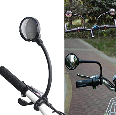 Bike Mirror Rotatable and Adjustable Mirror Wide Angle Rear View for BikeBicycle