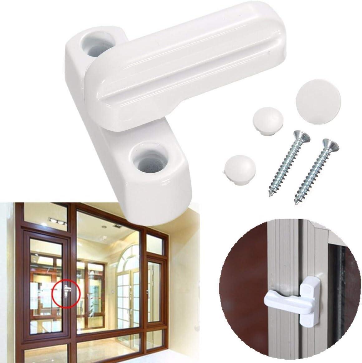 Ventana de Bloqueo Ventana de aluminio de aleación de zinc de UPVC bloqueo de la puerta ventanas de guillotina Inhibidores adicionales de seguridad Bloqueo de giro antirrobo ventana de la puerta Cierr: