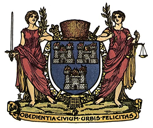 - Posterazzi Poster Print Collection Coat Ncoat of Arms of the City of Dublin Ireland, (18 x 24), Multicolored