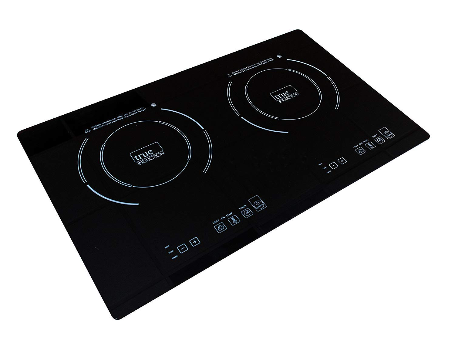 true induction TI-2B Double Burner Cooktop- Counter Inset Model by true induction