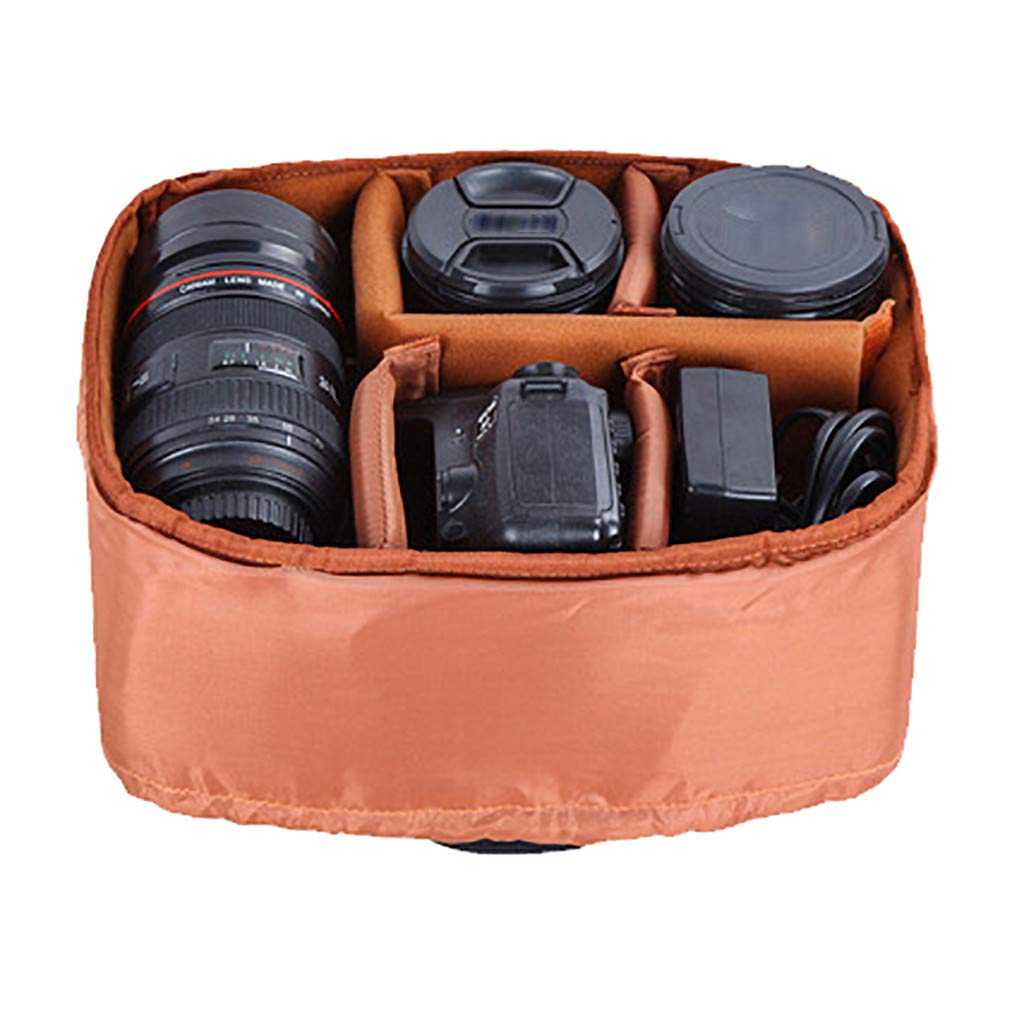 Cywulin Waterproof Camera Backpack Case Canvas Travel Outdoor Bag for Laptop and Other Digital Camera Photography Accessories Sony Canon Nikon with 15'' Laptop Space Tripod Holder (Gray) by Cywulin (Image #3)