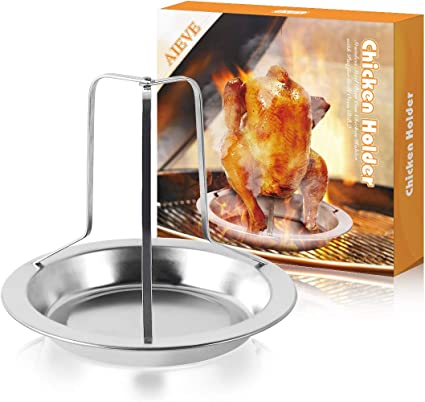 Amazon Com Aieve Stainless Steel Chicken Roaster Rack Beer Can Chicken Holder Beer Can Chicken Rack Chicken Roasting Rack Roasting Pan With Rack Stand Holder Cooking Rack Chicken Rack With Pan For