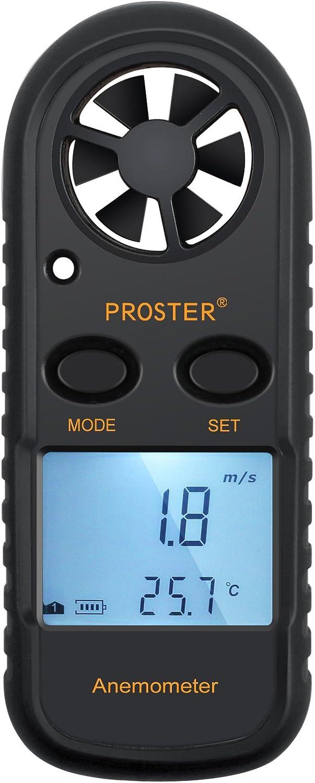 Proster Anemometers Handheld Wind Speed Meter