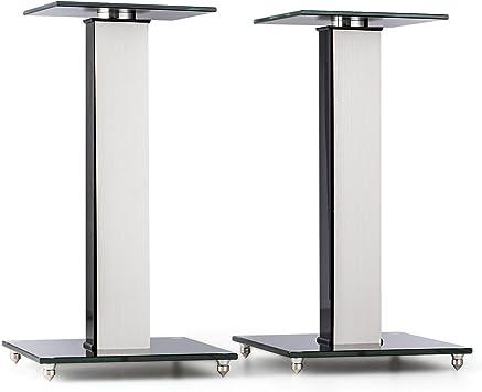 auna BS-03S-WHOA Soportes para Altavoz Aluminio Vidrio MDF y ...