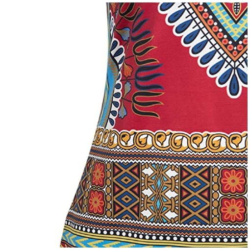 e8515c9d17 Tonsee Women Casual Sleeveless Traditional African Printed Dress ...