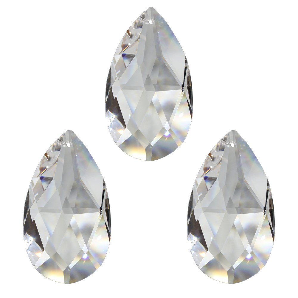 Lot de 8 Gouttes de Cristal de 38 mm pour d/écoration de fen/être 30/% Cristal de Plomb en Cristal