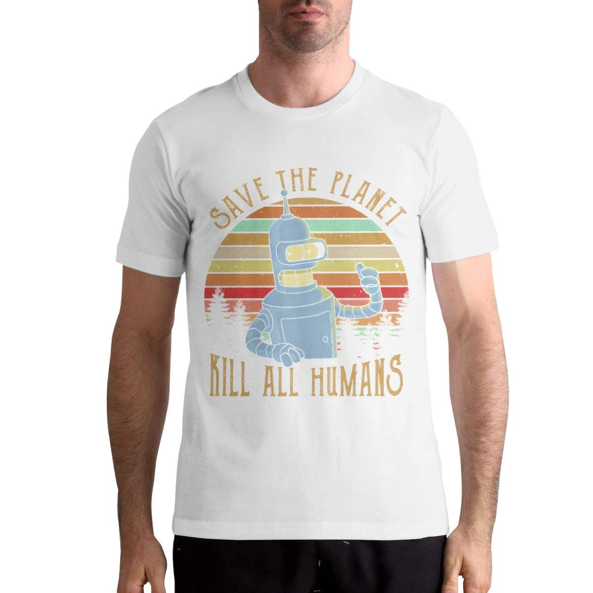 Thomlarryca Save The Planet Kill All Humans Classic Leisure T Shirts For Black