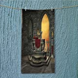 SCOCICI1588 swim towel Altar Holy Table in Castle Baroque Inspired Alchemy Super Soft W9.8 x H39.4 INCH